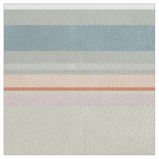 Pastel Lines Aqua Coral Fabric