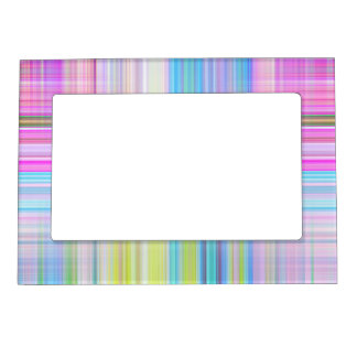 Pastel Lines Magnetic Picture Frame
