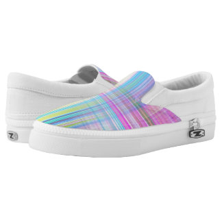 Pastel Lines Slip-On Shoes