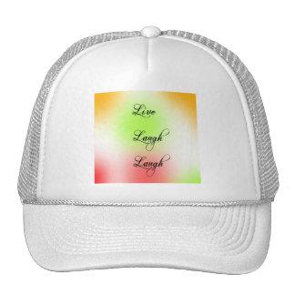 Pastel Live Laugh Love Trucker Hat