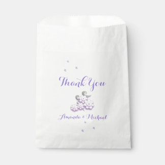 Pastel love birds wedding favor bags