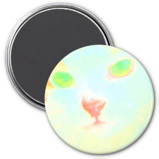 Pastel Maine Coon Cat Image Large Round Magnet