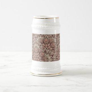 Pastel mandala pattern. beer stein