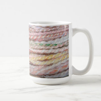 pastel merino yarn coffee mug