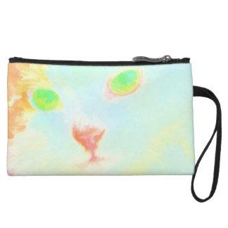 Pastel Miane Coon Cat Image Mini Clutch Bag Wristlet