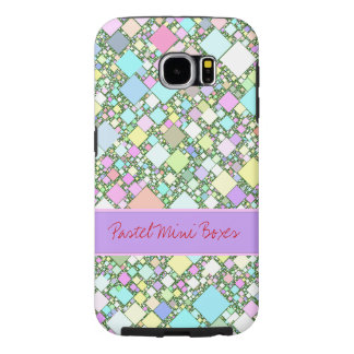 Pastel Mini Boxes Background Samsung Galaxy S6 Cases