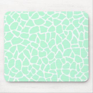 Pastel Mint Green Animal Print Giraffe Pattern Mouse Pads