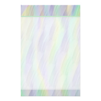Pastel Mint Green Lavender Yellow Pattern Stationery