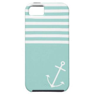 Pastel Mint Nautical iPhone 5 Case