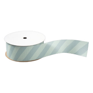 Pastel Mint Striped Grosgrain Ribbon