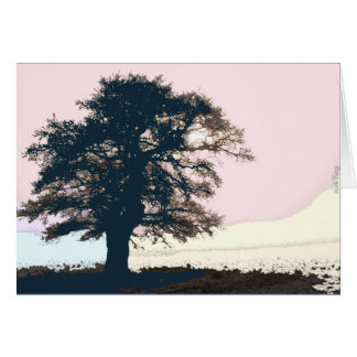Pastel Misty Tree Card