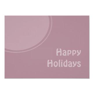 Pastel Modern Happy Holidays 17 Cm X 22 Cm Invitation Card
