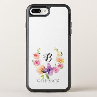Pastel Modern Watercolors Flowers Wreath OtterBox Symmetry iPhone 8 Plus/7 Plus Case