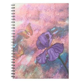 Pastel Monarchs 6.5 x 8.75 Spiral Notebook