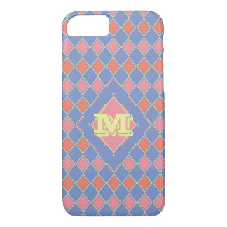 Pastel Monogrammed Harlequin iPhone 8/7 Case