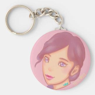 Pastel Mood Basic Round Button Key Ring