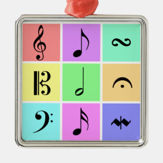 pastel music symbol ornament