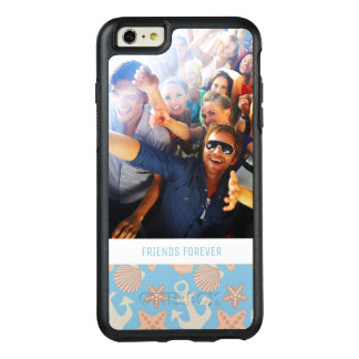 Pastel Nautical Pattern | Your Photo & Text OtterBox iPhone 6/6s Plus Case