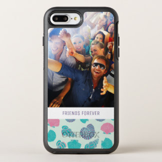 Pastel Nautical Pattern | Your Photo & Text OtterBox Symmetry iPhone 7 Plus Case