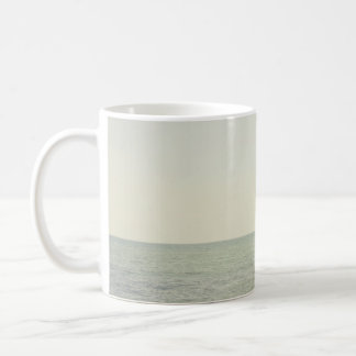 Pastel Ocean Photography Minimalism Basic White Mug