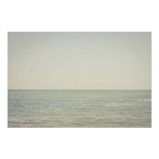 Pastel Ocean Photography Minimalism Poster