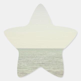 Pastel Ocean Photography Minimalism Star Sticker