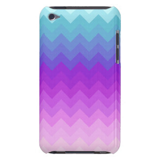 Pastel Ombre Chevron Pattern Barely There iPod Cases