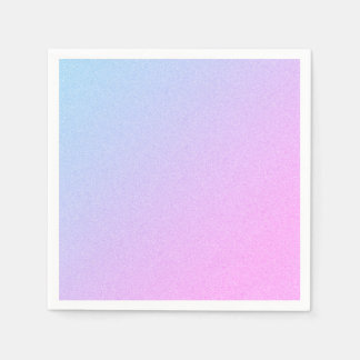 Pastel Ombre Glitter Disposable Napkin