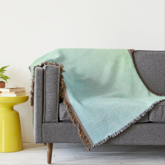Pastel Ombre Glitter Look Throw Blanket
