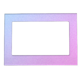 Pastel Ombre Glitter Magnetic Picture Frame