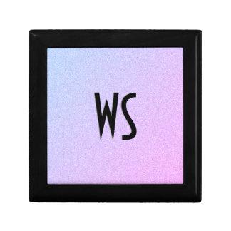 Pastel Ombre Glitter Monogram Gift Box