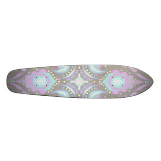 Pastel on Concrete Street Mandala 21.6 Cm Skateboard Deck