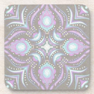 Pastel on Concrete Street Mandala Coaster