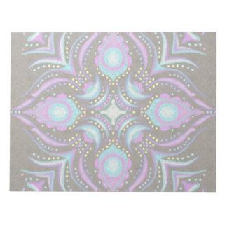 Pastel on Concrete Street Mandala Notepad