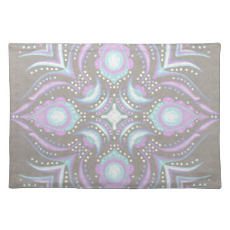 Pastel on Concrete Street Mandala Placemat