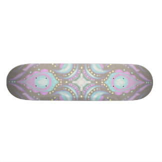 Pastel on Concrete Street Mandala Skateboard Deck