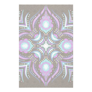 Pastel on Concrete Street Mandala Stationery