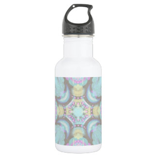 Pastel on Concrete Street Mandala (variation) 532 Ml Water Bottle