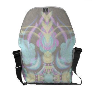 Pastel on Concrete Street Mandala (variation) Messenger Bags