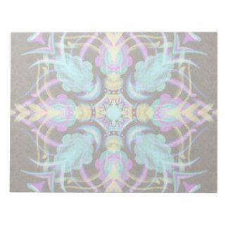 Pastel on Concrete Street Mandala (variation) Notepad