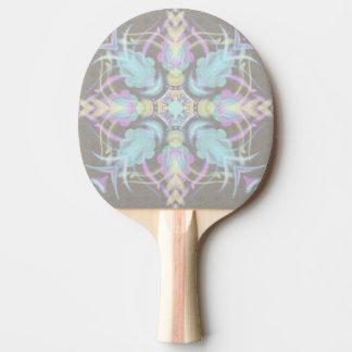 Pastel on Concrete Street Mandala (variation) Ping Pong Paddle