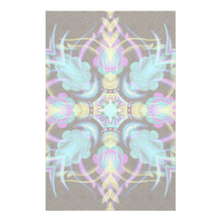 Pastel on Concrete Street Mandala (variation) Stationery