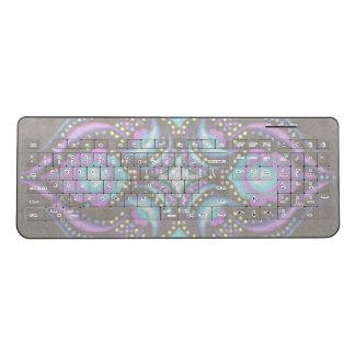 Pastel on Concrete Street Mandala Wireless Keyboard