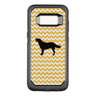 Pastel Orange Chevron With Golden Silhouette OtterBox Commuter Samsung Galaxy S8 Case