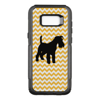 Pastel Orange Chevron With Schnauzer OtterBox Commuter Samsung Galaxy S8+ Case