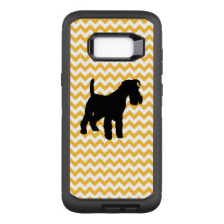 Pastel Orange Chevron With Schnauzer OtterBox Defender Samsung Galaxy S8+ Case