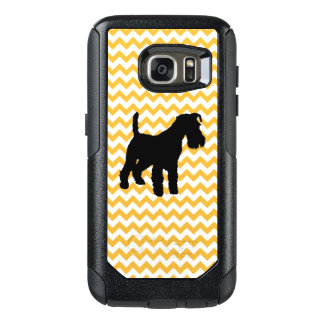 Pastel Orange Chevron With Schnauzer OtterBox Samsung Galaxy S7 Case
