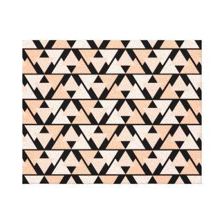 Pastel Orange Geometric Triangle Design Canvas
