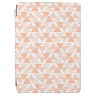 Pastel Orange Geometric Triangle Design iPad Cover