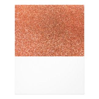 Pastel orange glitter 21.5 cm x 28 cm flyer